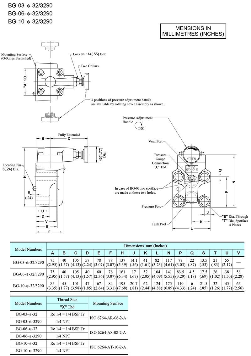 bản vẽ kích thước van yuci yuken bg-03-06-10