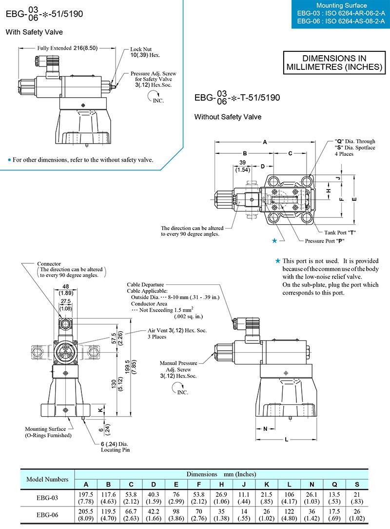 bản vẽ kích thước van yuci yuken ebg-03-06