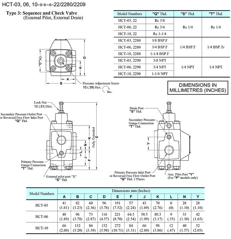 bản vẽ kích thước van yuci yuken hct-03-06-10