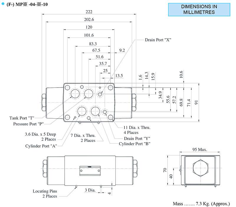 bản vẽ kích thước van yuci yuken mp-04
