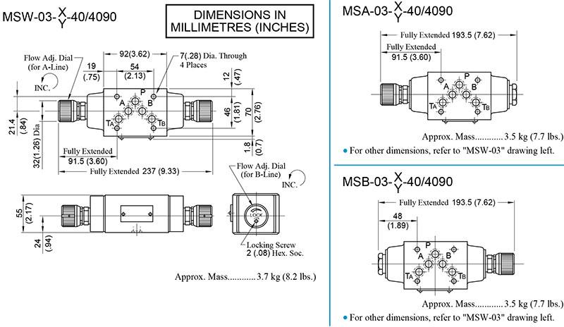 bản vẽ kích thước van yuci yuken ms-03