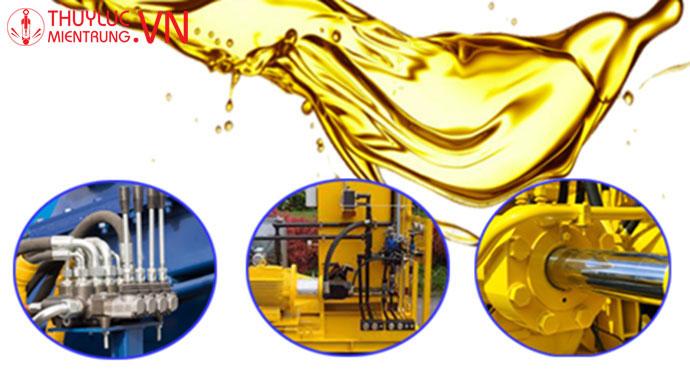 xác định lượng dầu thủy lực